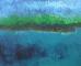 Peinture à l'huile du port de Manech en Nevez, Finistère Sud