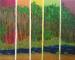 Peinture de tableau à l'acrylique d'un paysage moderne
